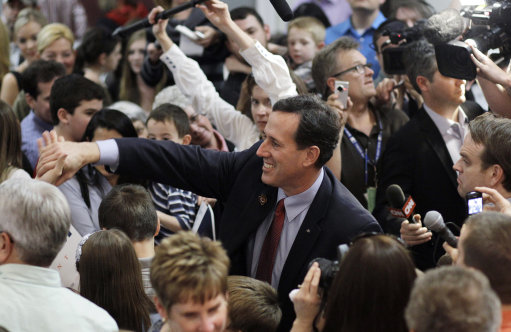 Santorum's Rise: This Week He Is The Clear Gop Front-Runner