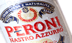 Peroni positions itself as an upmarket beer