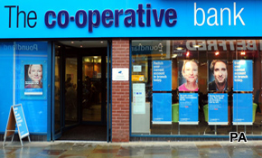 Co-op Bank's downgrade hits social networks