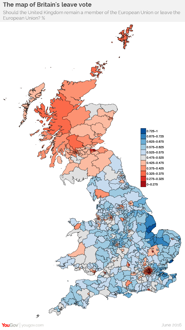 Yougov Introducing The Referendum Model: Demographic Map Uk At Infoasik.co