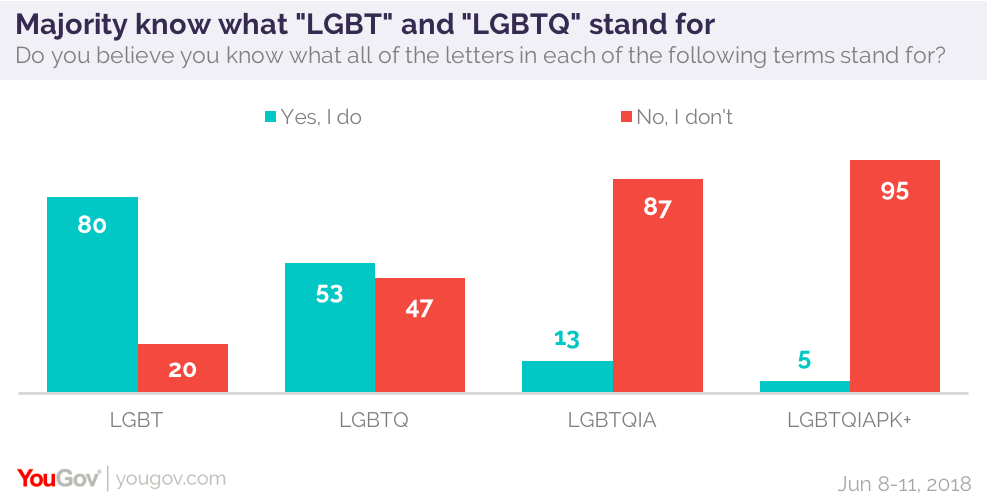 majority of americans think they know what lgbtq stands for yougov