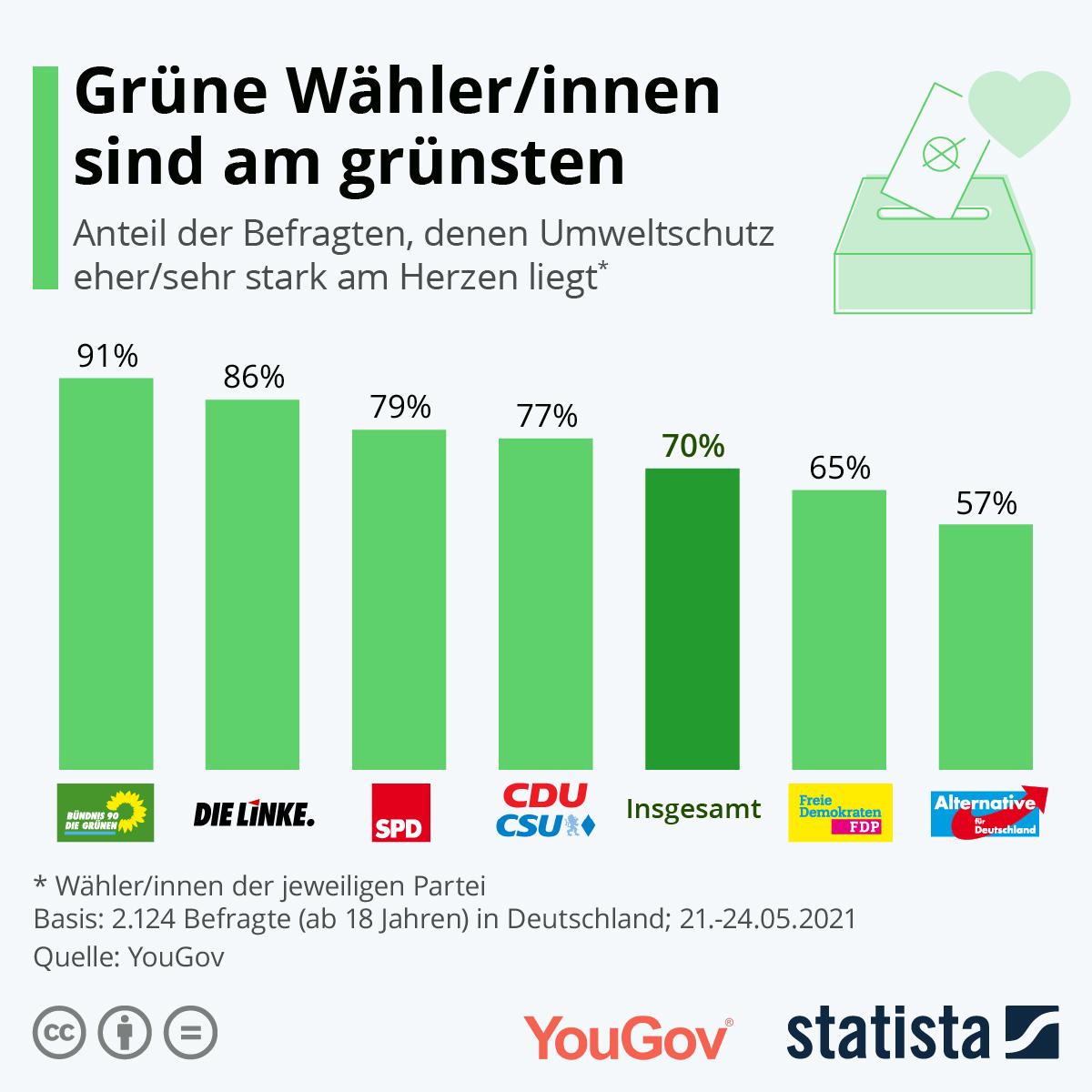 Grünen-Wähler sind am grünsten