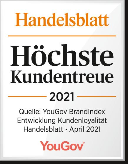 Höchste Kundentreue 2021