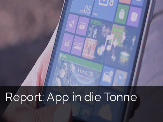 Report: App in die Tonne