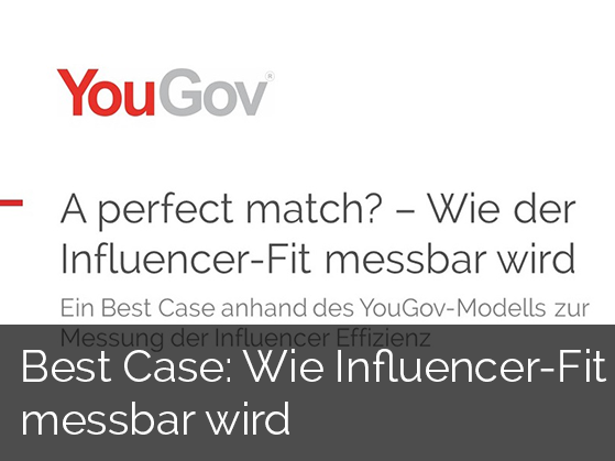Präsentation: Influencer-Fit