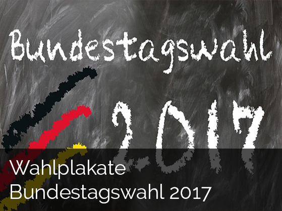 Zur Studie: Wahlplakate Bundestagswahl
