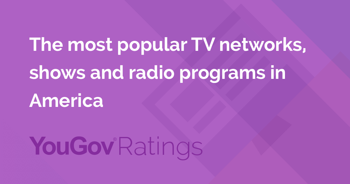 The most popular TV networks in America | Media | YouGov Ratings