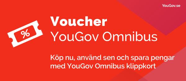 Köp nu, använd sen och spara pengar med YouGov Omnibus klippkort