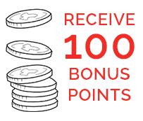 100 bonus points