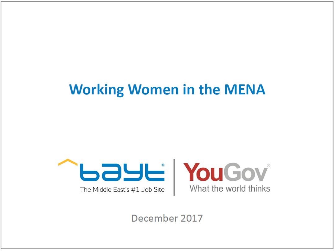 Working Women in MENA