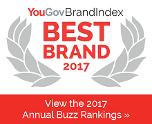 YouGov BrandIndex 2017 Best Brand Buzz Rankings