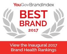 YouGov BrandIndex Best Brand Rankings