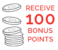 100 bonus points